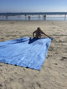 The 10 Feet x 10 Feet Monster Towel On The Beach